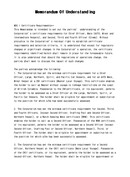 (영문) 양해각서(Memorandum of Understanding)