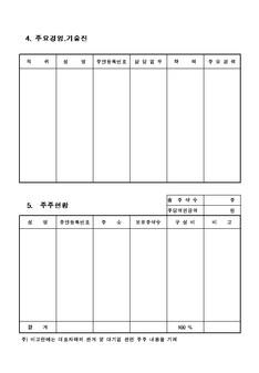 창업 사업계획서(신규사업) - 사업계획서