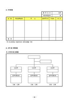 표준사업 계획서 양식(음식 외식업_기존기업_영업[입점]제안)