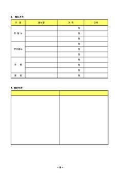 표준사업 계획서 양식(음식 외식업_기존기업_자금조달용) - 사업계획서