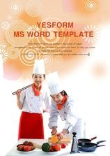 워드 템플릿 (요식) 즐거운 요리사