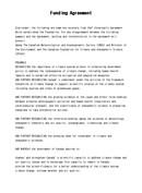 (영문) 투자 계약서(Funding Agreement)