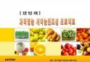새싹 채소 농원 조성 사업계획서
