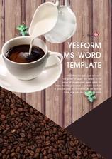 워드 템플릿 (식품) 부드러운 커피한잔 세로형