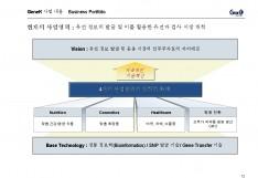유전자 검사 형질전환 동식물 개발 투자제안서 - 회사소개서 홍보자료 #13