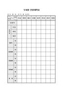 부서별 인원계획표