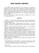 (영문) 합작투자 계약서 2(Joint Venture Contract)