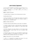 (영문) 합작투자 계약서(Joint Venture Agreement 4)