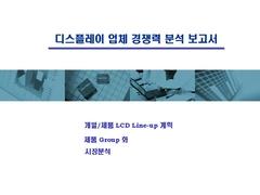 디스플레이 업체 경쟁력 분석 보고서