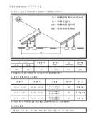 태양광 모듈 어레이 설치 간격 계산서