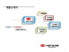 LED 전문 생산 기업 태양기술개발 제품소개서 - 회사소개서 홍보자료 #1
