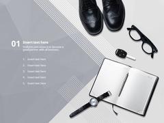 가로형 애니_ 비즈니스 출근 준비(파워포인트>애니메이션 템플릿) - 예스폼 쇼핑몰
