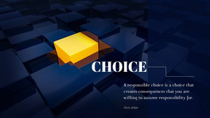 선택(Choice) PPT 테마