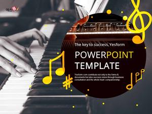 피아노 테마 Powerpoint 배경 디자인