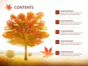 가을 단풍 테마 (자연) 피피티 표지 배경