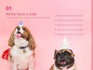 강아지 생일 테마 (동물) 파워포인트 디자인