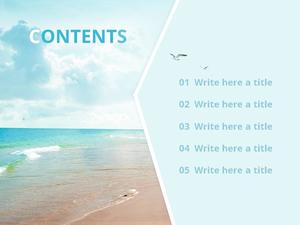 푸른 해변 (자연) Powerpoint 배경