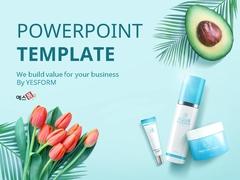 식물성 화장품 (미용) PPT 배경 - 와이드