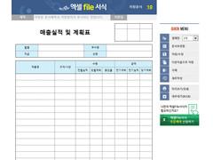 매출실적 및 계획표