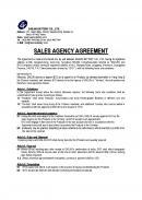 (영문) 대리점계약서(Sales Agency Agreement)