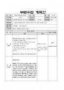 부분수업 계획안(도깨비동화)