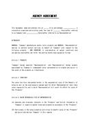 (영문) 판매대행 계약서(Agency Agreement)