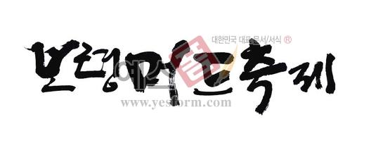 미리보기: 보령 머드축제 - 손글씨 > 캘리그래피 > 행사/축제