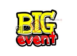 섬네일: big event - 손글씨 > POP > 안내표지판
