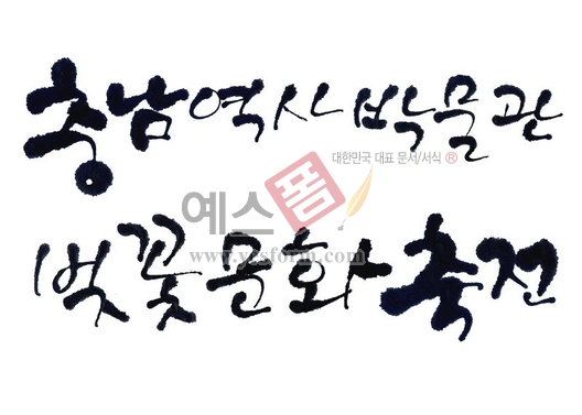 미리보기: 충남 역사박물관 벚꽃문화축전 - 손글씨 > 캘리그래피 > 행사/축제