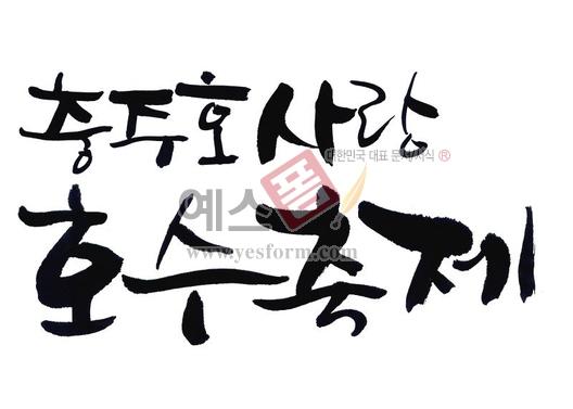 미리보기: 충주호 사랑호수축제 - 손글씨 > 캘리그래피 > 행사/축제