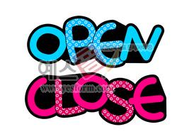 섬네일: OPEN CLOSE - 손글씨 > POP > 안내표지판