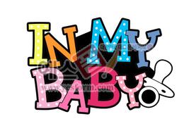 섬네일: IN MY BABY(아기가 타고 있어요,baby on board) - 손글씨 > POP > 자동차/주차