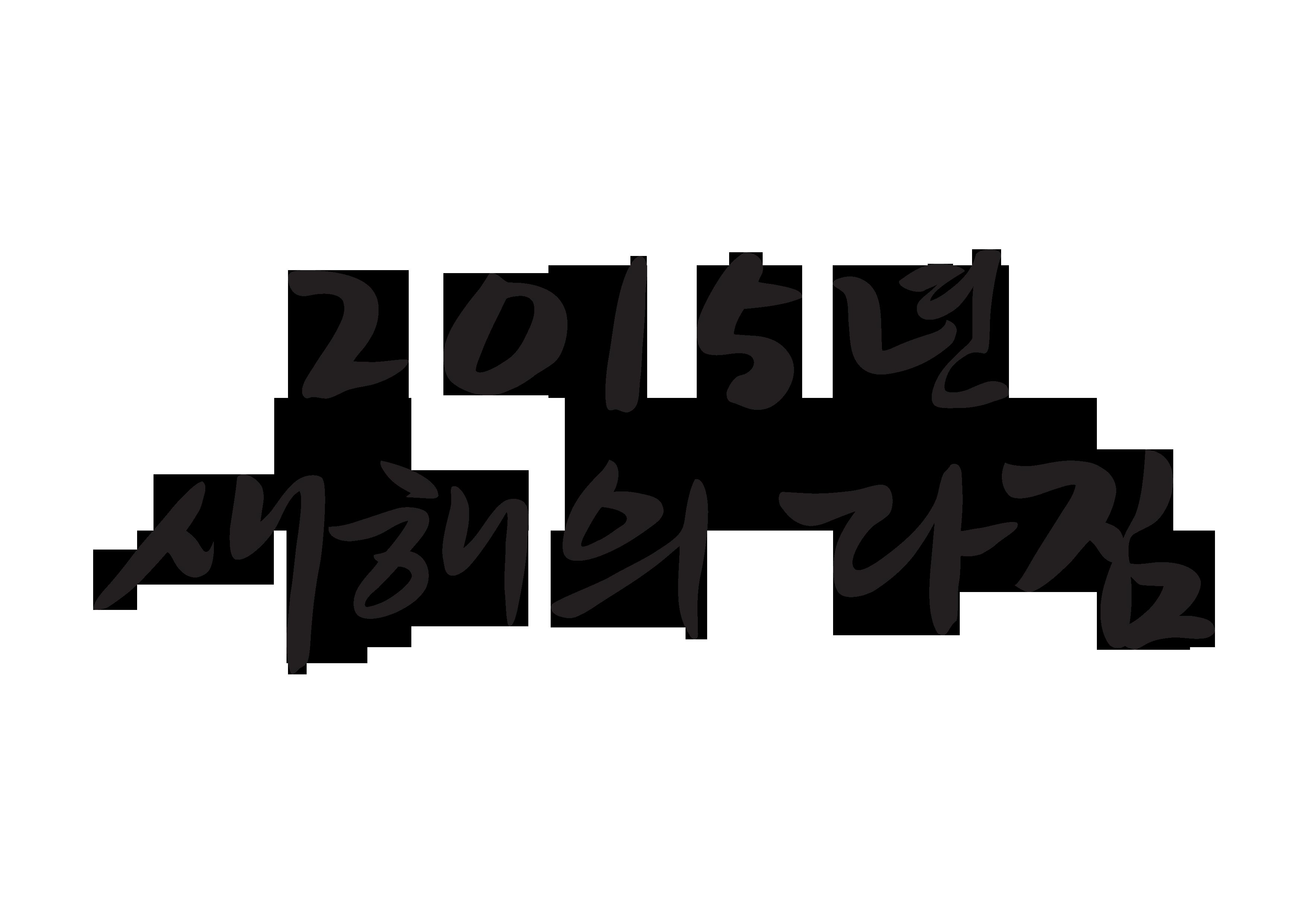 2015년 새해의 다짐