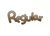 Regular (영어단어,크기,사이즈)