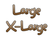 Large / X-Large (영어단어,크기,사이즈)