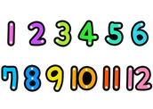 1~12(숫자,달,월)