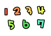 1,2,3,4,5,6,7 (숫자,number)