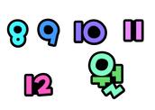 8,9,10,11,12 월 (월별,month,달력,숫자)