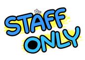 STAFF ONLY(문패)