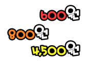 600원 800원 4500원(가격표)
