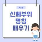 예스폼 <참잘했어요> 신체부위(몸) 명칭 배우기 학습지 출시!