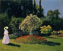 정원에 있는 잔느 마거리트 르카드르