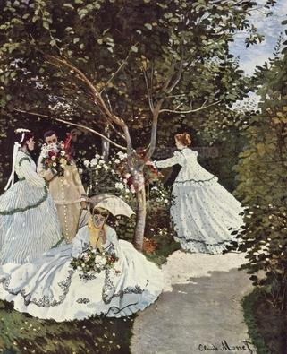 정원에 있는 여인들