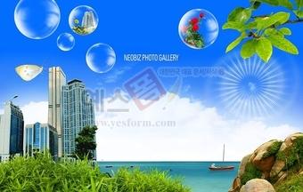 빌딩,구름,하늘,물방울,나비,초록,강가,강물,바위