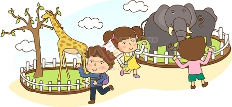 동물구경하는 아이들1