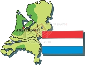 지도,국가,암스테르담,네덜란드수도,네덜란드국기