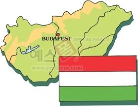 지도,국가,부다페스트,헝가리수도,헝가리국기
