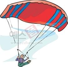 낙하산,레져,비행,사람,패러글라이딩,스포츠