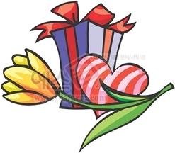 하트,선물,선물포장,사랑,하트,꽃,튤립,발렌타인데이,화이트데이