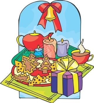크리스마스장식,종,리본,성탄절,촛불,찻잔,주전자,쿠키,선물,메리크리스마스